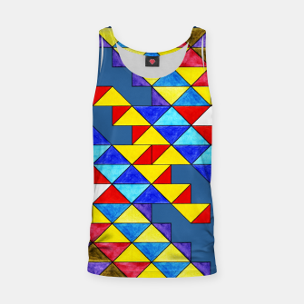 Imagen en miniatura de Centrally Reflective Triangles on Blue Tank Top, Live Heroes