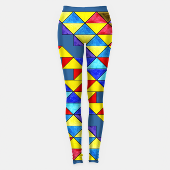 Imagen en miniatura de Centrally Reflective Triangles on Blue Leggings, Live Heroes