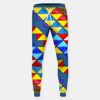 Miniature de image de Centrally Reflective Triangles on Blue Sweatpants, Live Heroes