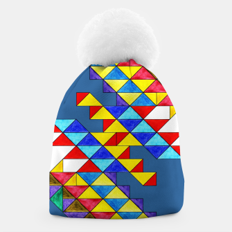 Miniature de image de Centrally Reflective Triangles on Blue Beanie, Live Heroes