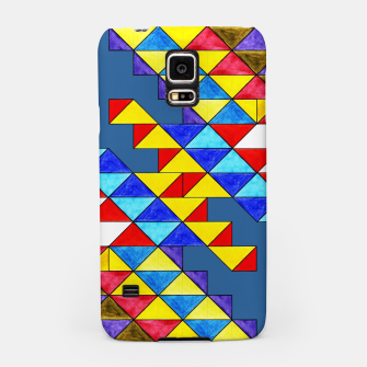 Miniature de image de Centrally Reflective Triangles on Blue Samsung Case, Live Heroes