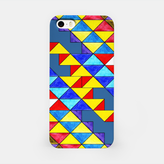 Imagen en miniatura de Centrally Reflective Triangles on Blue iPhone Case, Live Heroes