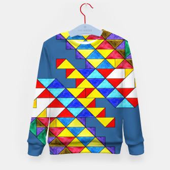 Imagen en miniatura de Centrally Reflective Triangles on Blue Kid's sweater, Live Heroes