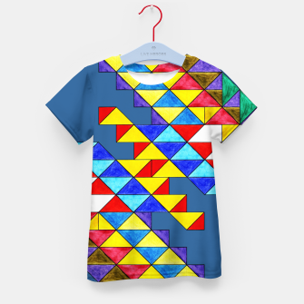 Miniature de image de Centrally Reflective Triangles on Blue Kid's t-shirt, Live Heroes