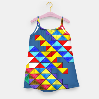 Miniature de image de Centrally Reflective Triangles on Blue Girl's dress, Live Heroes