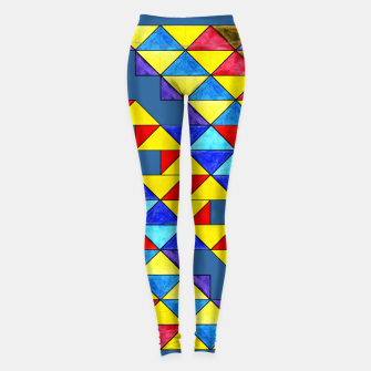 Miniature de image de Centrally Reflective Triangles on Blue Leggings, Live Heroes