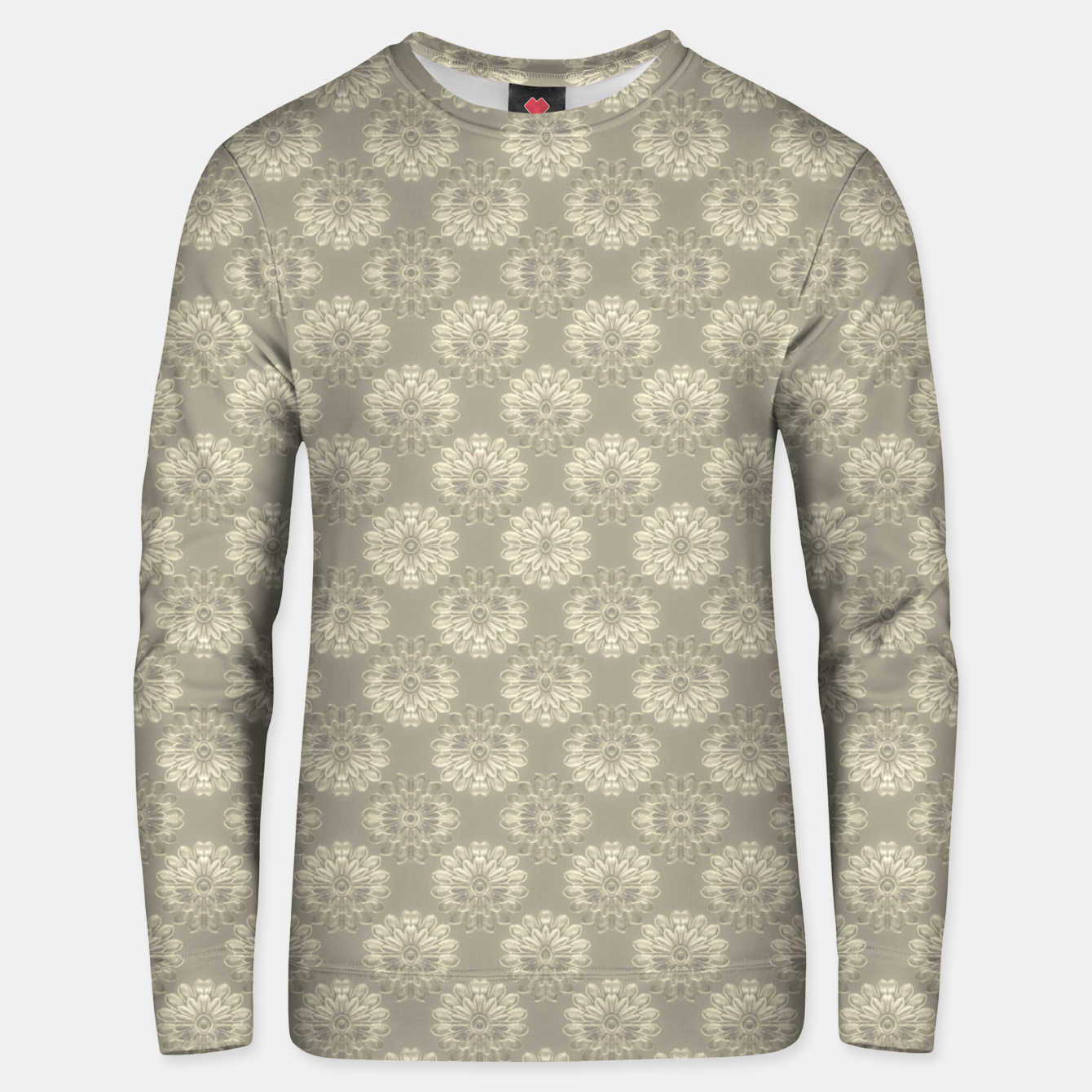 Image of Bright Silver Decorative Motif Pattern Unisex sweater - Live Heroes