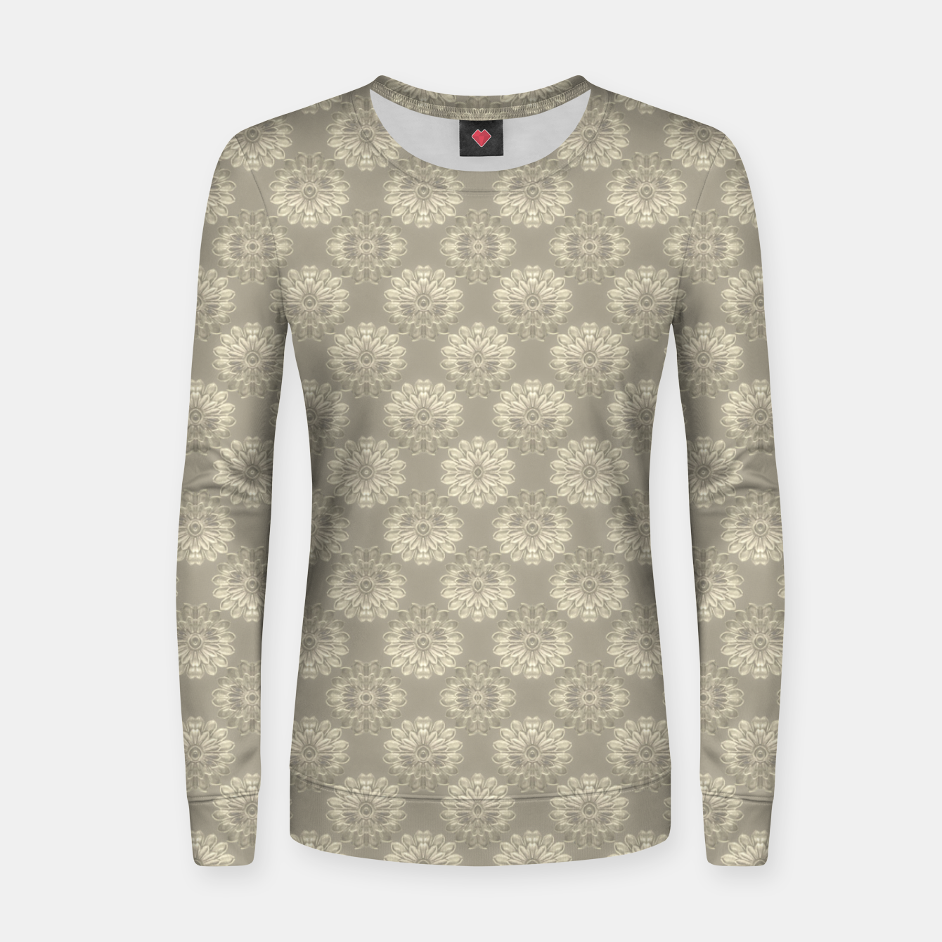 Image of Bright Silver Decorative Motif Pattern Women sweater - Live Heroes