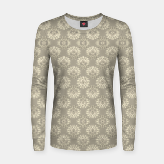 Thumbnail image of Bright Silver Decorative Motif Pattern Women sweater, Live Heroes