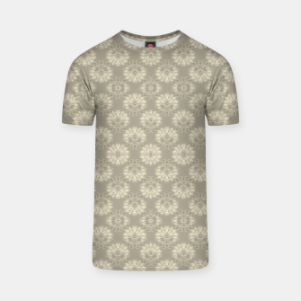 Bright Silver Decorative Motif Pattern T-shirt thumbnail image