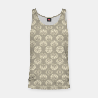 Thumbnail image of Bright Silver Decorative Motif Pattern Tank Top, Live Heroes