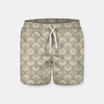 Thumbnail image of Bright Silver Decorative Motif Pattern Swim Shorts, Live Heroes