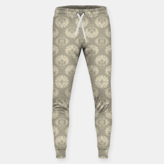 Miniatur Bright Silver Decorative Motif Pattern Sweatpants, Live Heroes