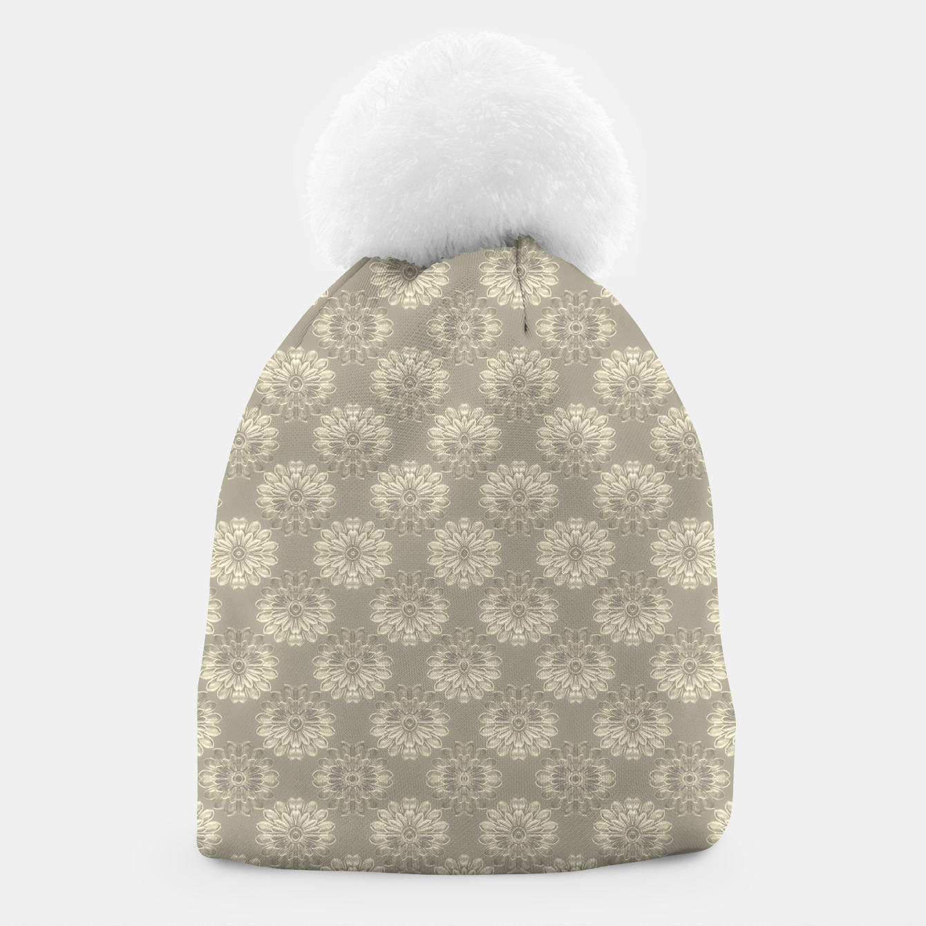 Image of Bright Silver Decorative Motif Pattern Beanie - Live Heroes