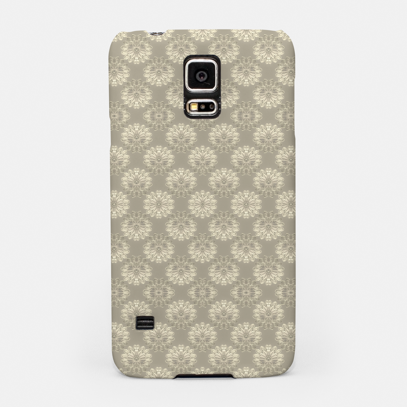 Image of Bright Silver Decorative Motif Pattern Samsung Case - Live Heroes