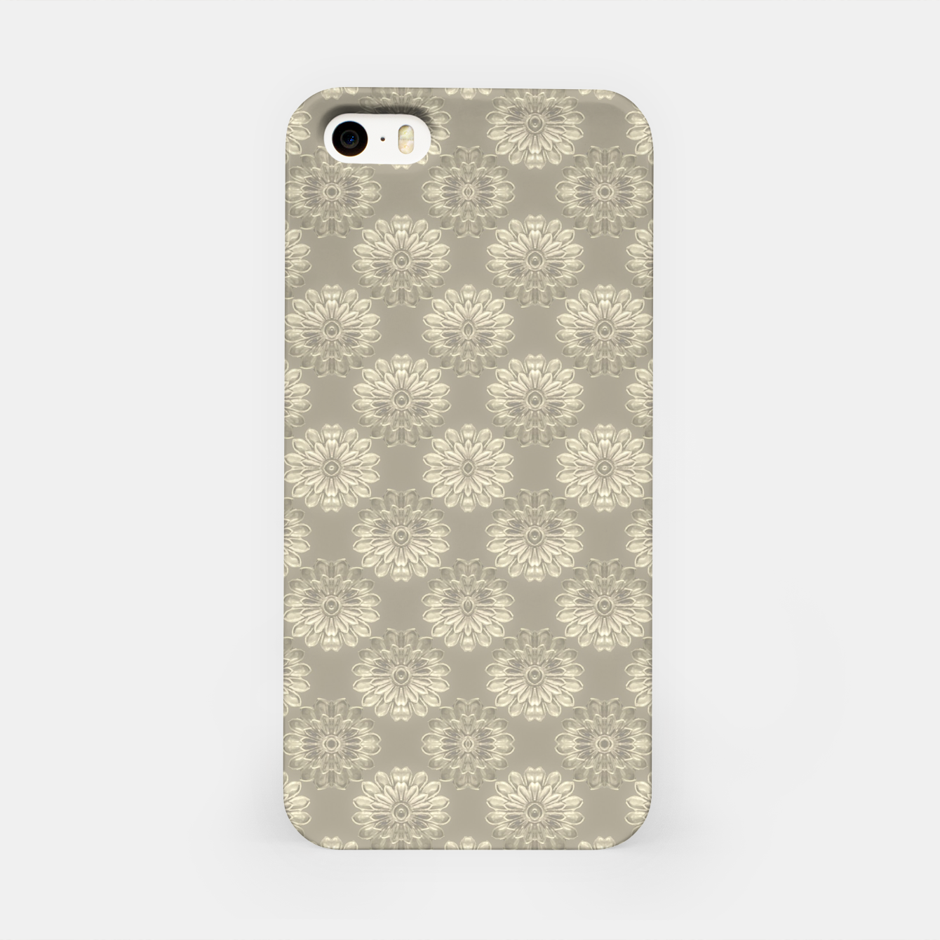 Image of Bright Silver Decorative Motif Pattern iPhone Case - Live Heroes