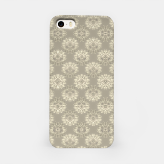 Thumbnail image of Bright Silver Decorative Motif Pattern iPhone Case, Live Heroes