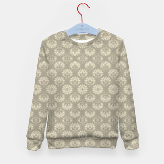 Thumbnail image of Bright Silver Decorative Motif Pattern Kid's sweater, Live Heroes
