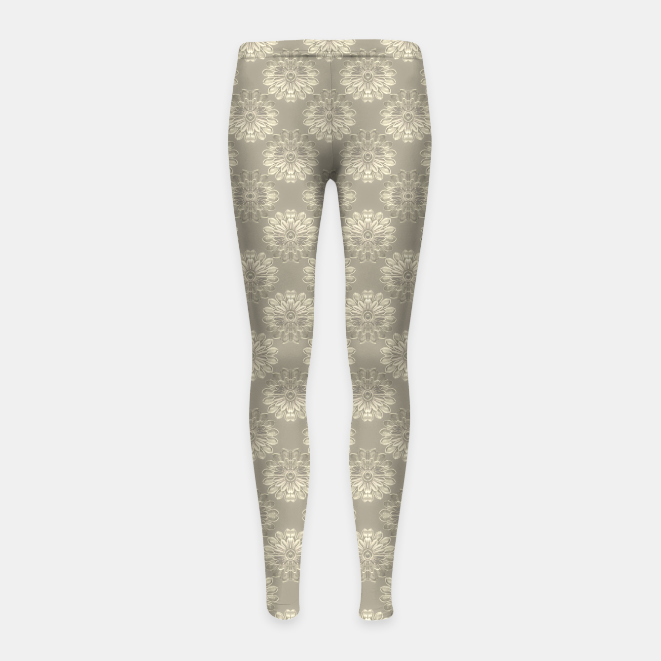 Image of Bright Silver Decorative Motif Pattern Girl's leggings - Live Heroes