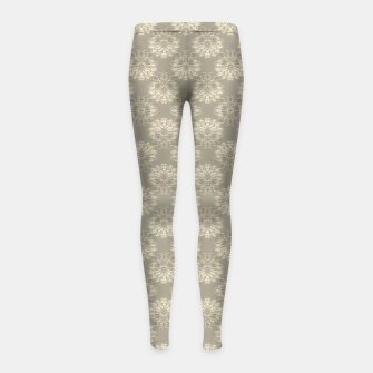 Thumbnail image of Bright Silver Decorative Motif Pattern Girl's leggings, Live Heroes