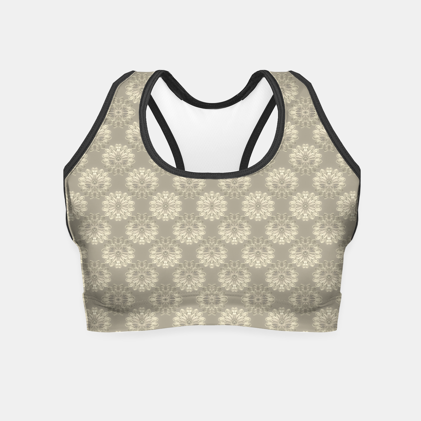 Image of Bright Silver Decorative Motif Pattern Crop Top - Live Heroes