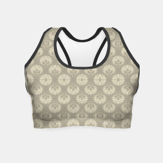 Bright Silver Decorative Motif Pattern Crop Top thumbnail image