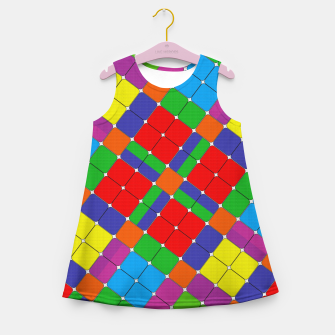 Miniaturka SQUARED UP Girl's summer dress, Live Heroes