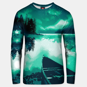 Thumbnail image of stars and snowflakes Unisex sweater, Live Heroes