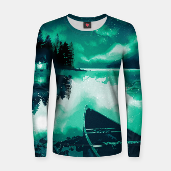 Thumbnail image of stars and snowflakes Women sweater, Live Heroes
