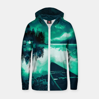 Thumbnail image of stars and snowflakes Zip up hoodie, Live Heroes