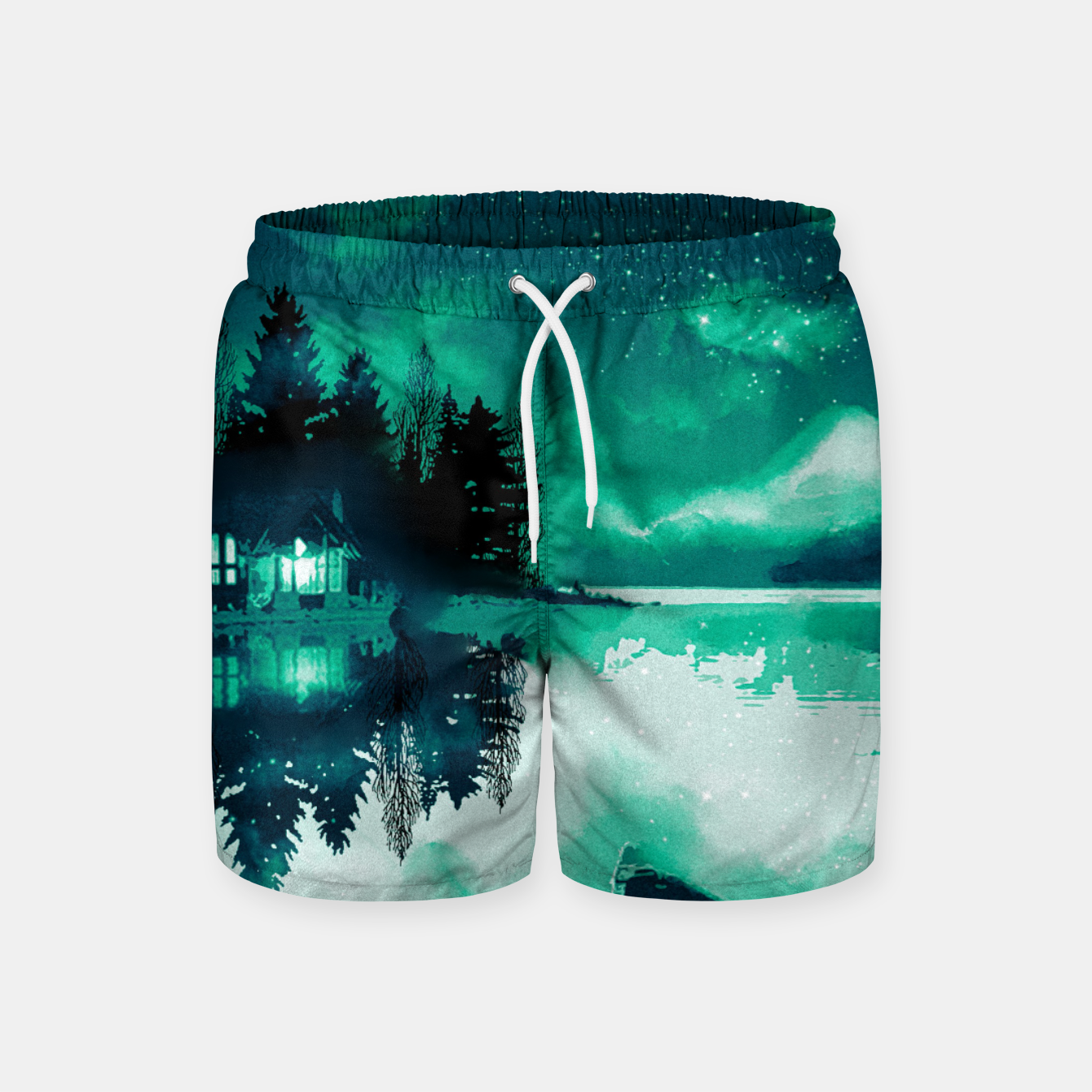 Image of stars and snowflakes Swim Shorts - Live Heroes
