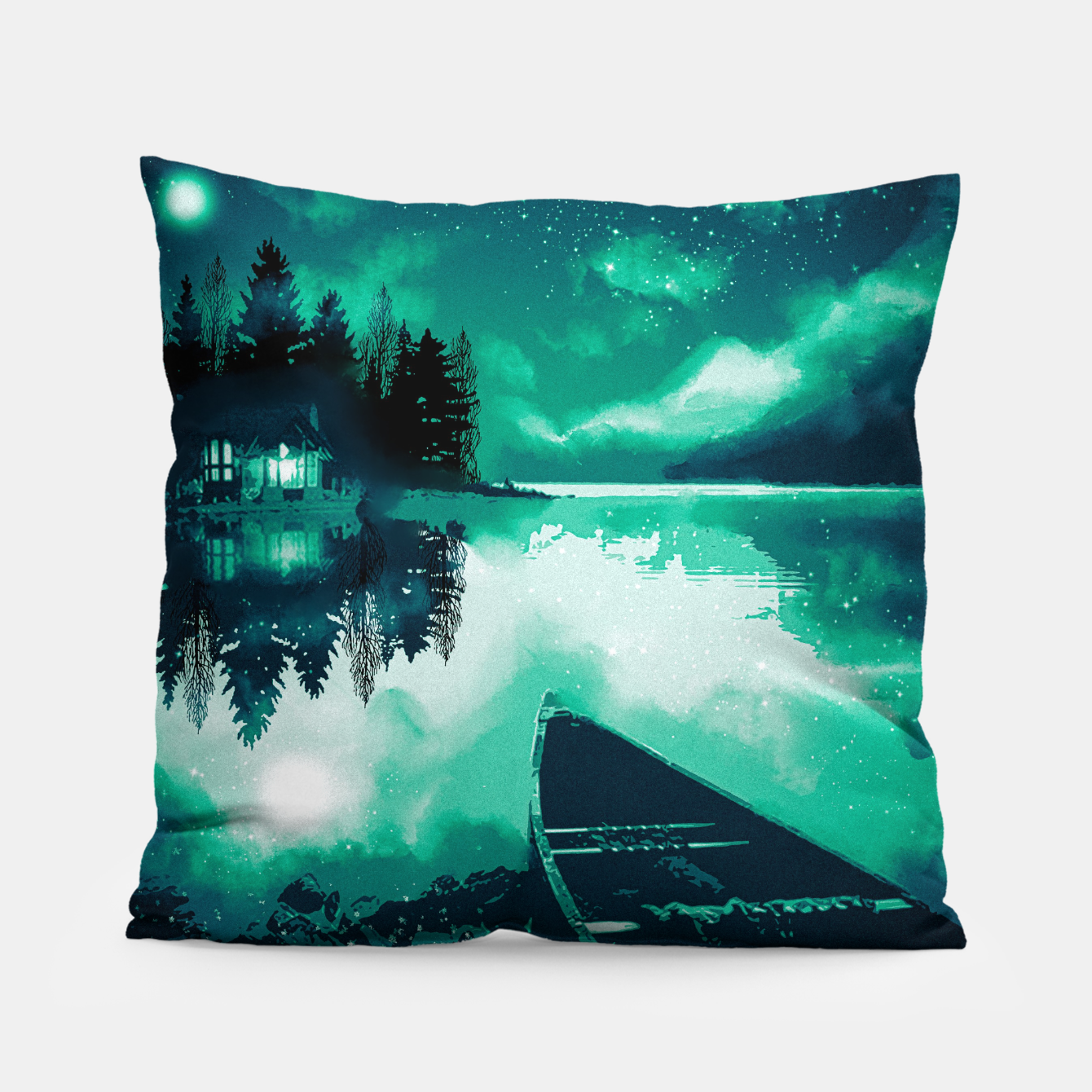Image of stars and snowflakes Pillow - Live Heroes