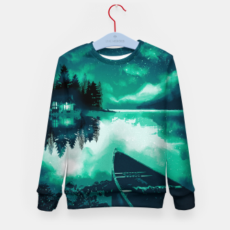 Thumbnail image of stars and snowflakes Kid's sweater, Live Heroes
