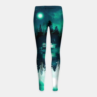 Thumbnail image of stars and snowflakes Girl's leggings, Live Heroes