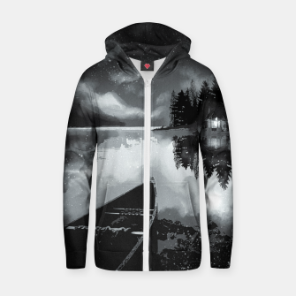 Thumbnail image of river by starlight Zip up hoodie, Live Heroes