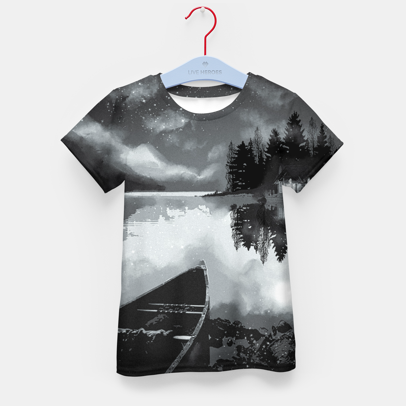 Image of river by starlight Kid's t-shirt - Live Heroes