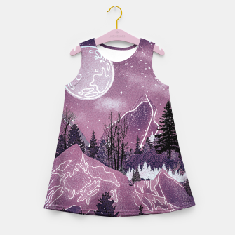 Thumbnail image of Purple Meadow Girl's summer dress, Live Heroes
