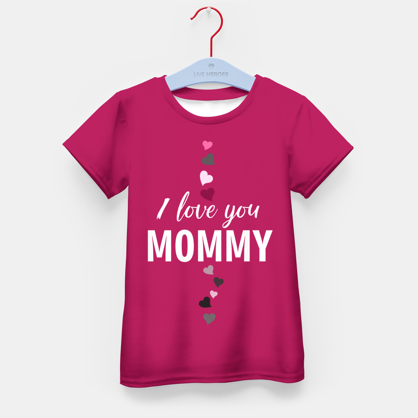 Image of I love you mommy, typographic print for all loving mother, mother's day print Kid's t-shirt - Live Heroes
