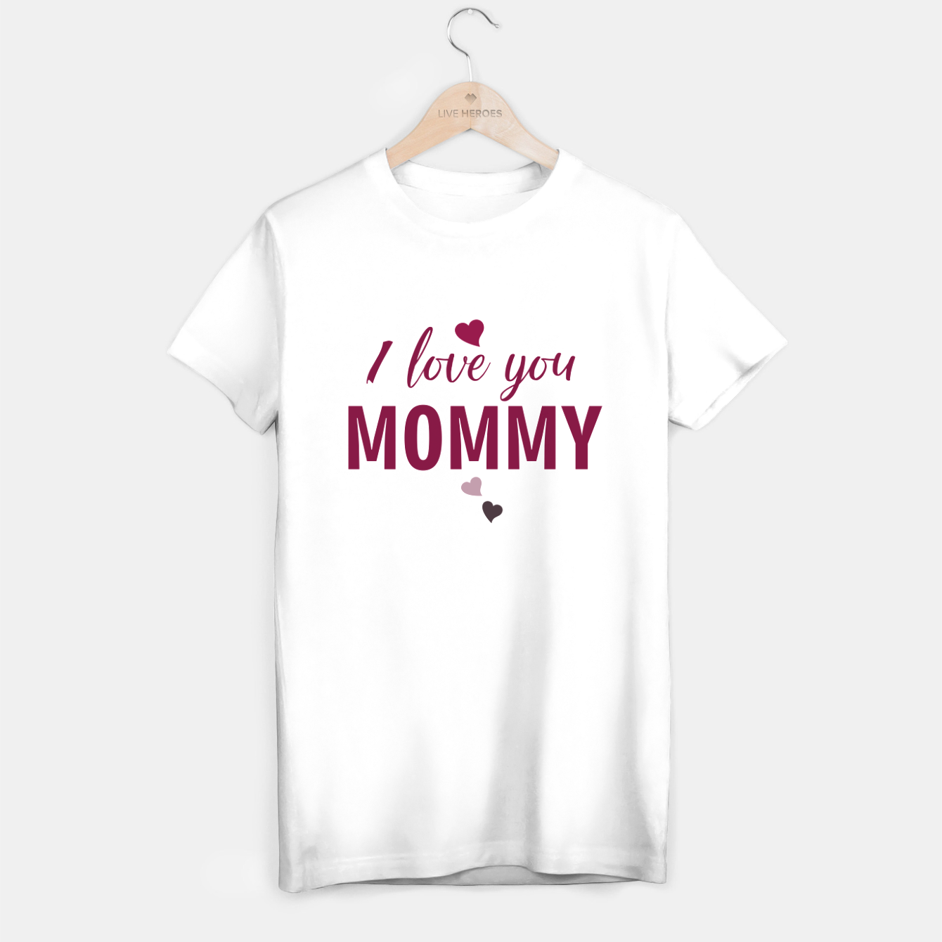 Image of I love you mommy, typographic print for all loving mother, mother's day print T-shirt regular - Live Heroes