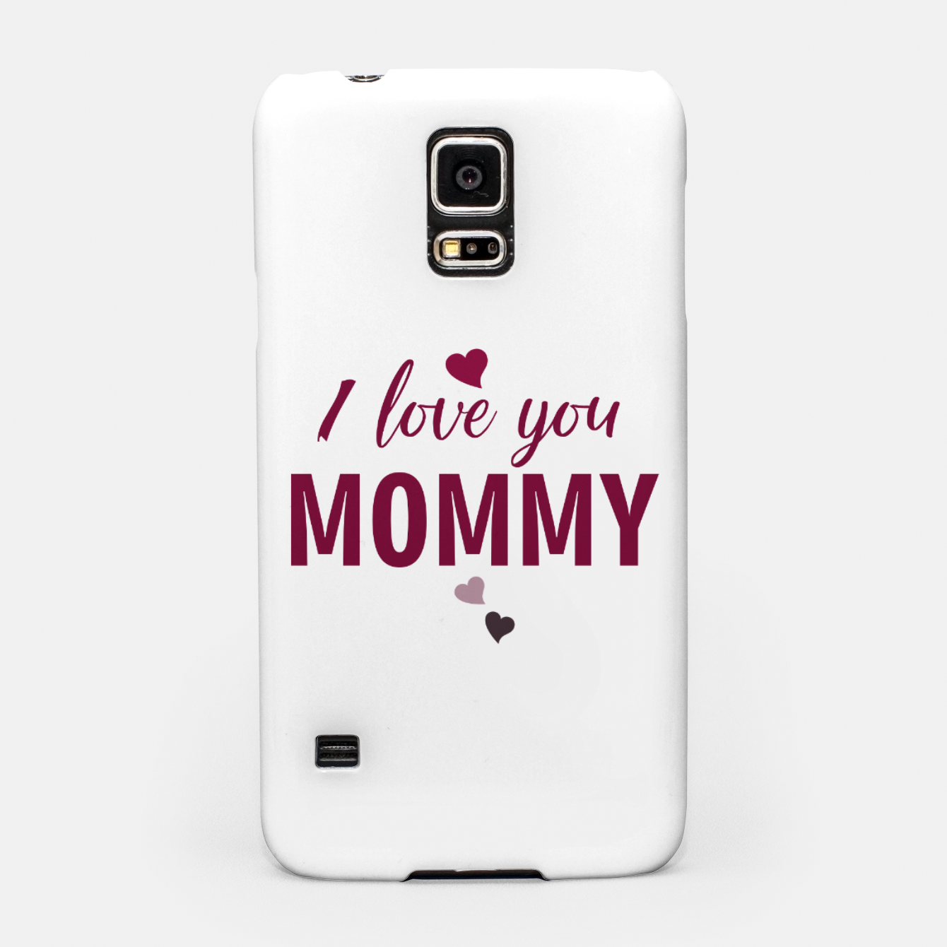 Image of I love you mommy, typographic print for all loving mother, mother's day print Samsung Case - Live Heroes