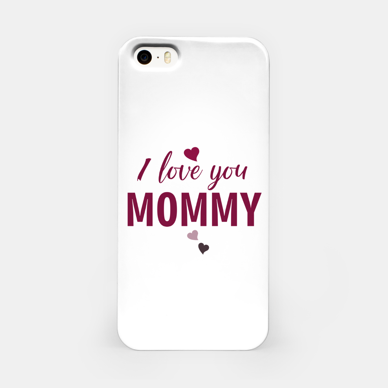 Image of I love you mommy, typographic print for all loving mother, mother's day print iPhone Case - Live Heroes