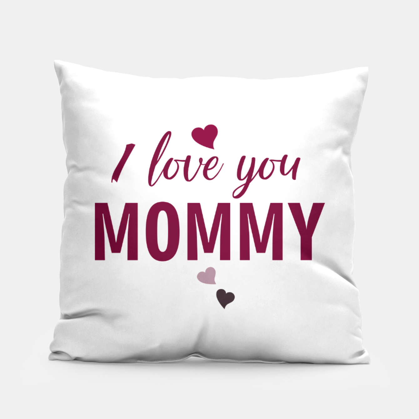 Image of I love you mommy, typographic print for all loving mother, mother's day print Pillow - Live Heroes