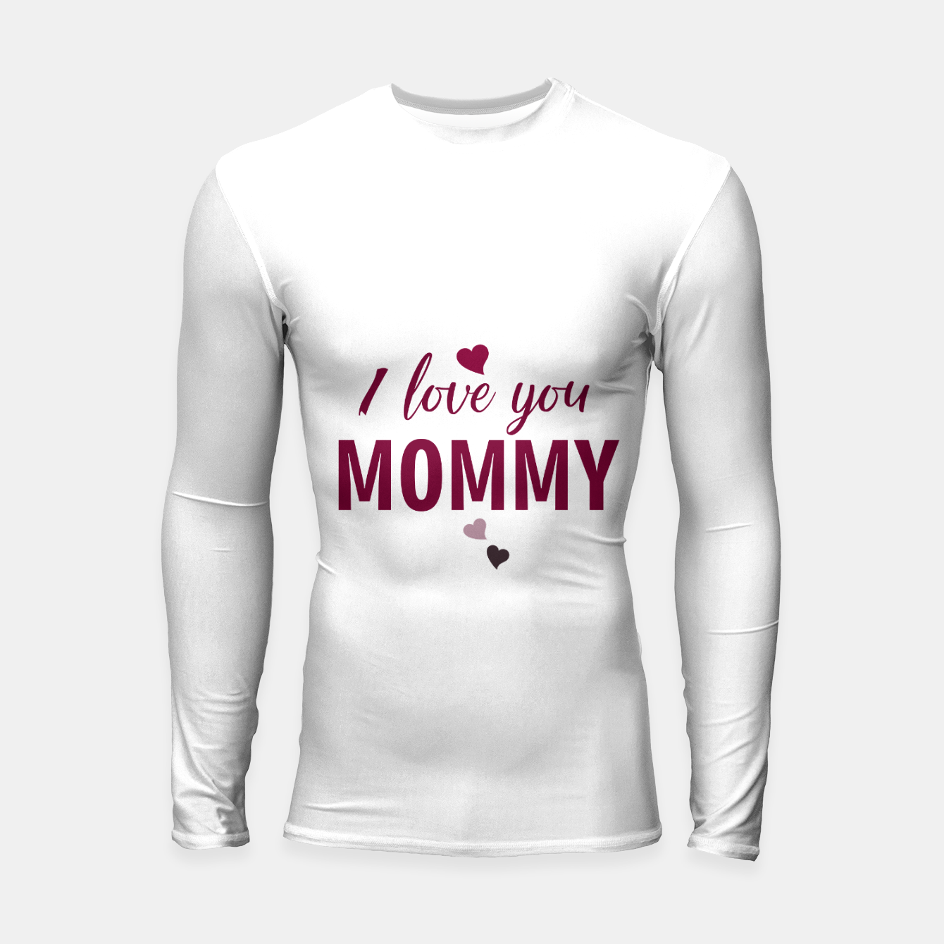 Image of I love you mommy, typographic print for all loving mother, mother's day print Longsleeve rashguard  - Live Heroes