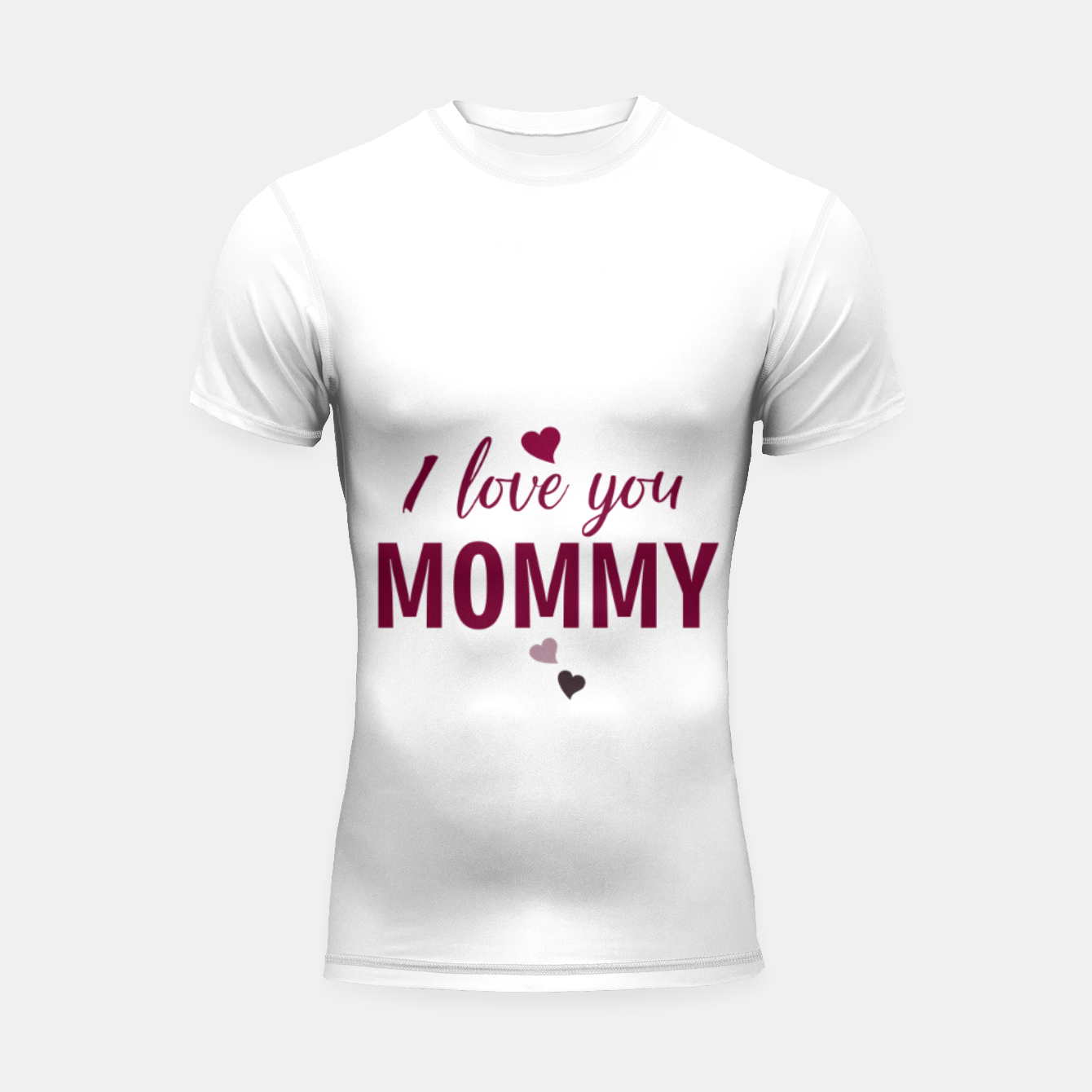 Image of I love you mommy, typographic print for all loving mother, mother's day print Shortsleeve rashguard - Live Heroes