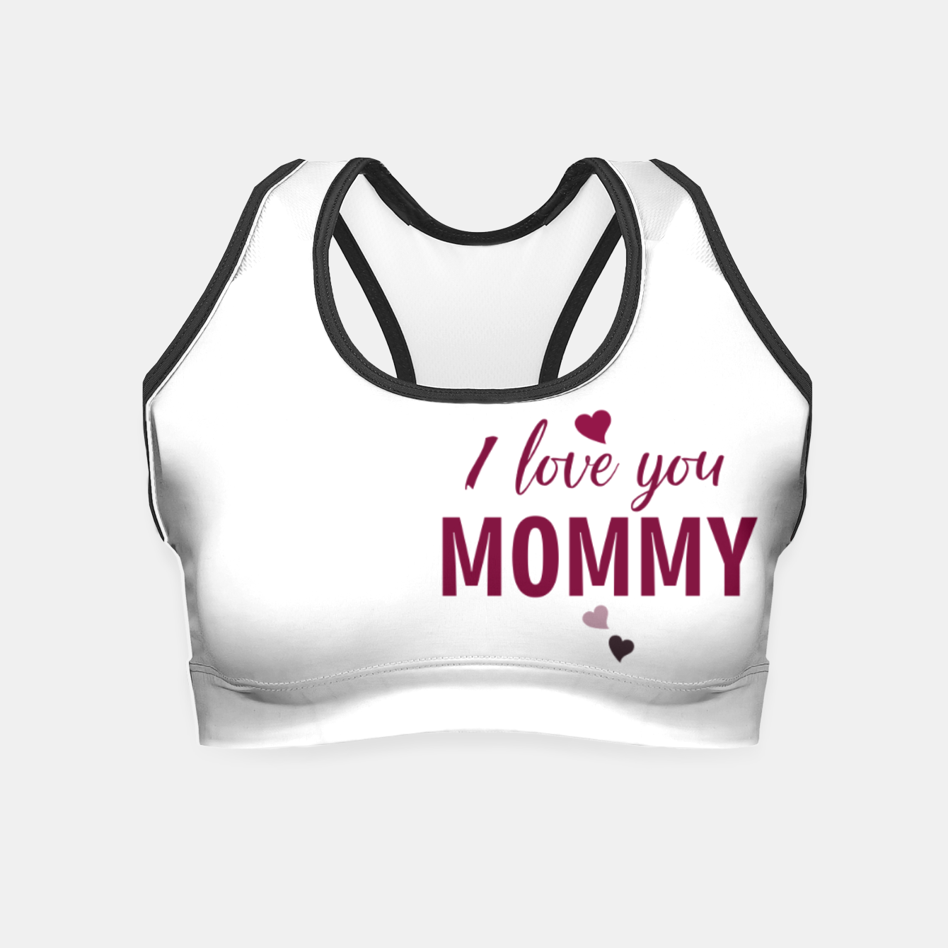 Image of I love you mommy, typographic print for all loving mother, mother's day print Crop Top - Live Heroes