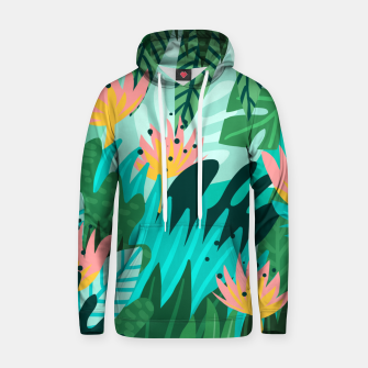 Thumbnail image of Let's Dance In The Sun, Wearing Wildflowers In Our Hair, Tropical Jungle Nature Botanical Painting Hoodie, Live Heroes