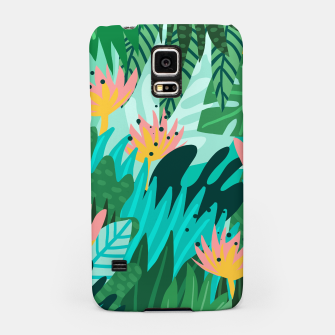 Miniaturka Let's Dance In The Sun, Wearing Wildflowers In Our Hair, Tropical Jungle Nature Botanical Painting Samsung Case, Live Heroes