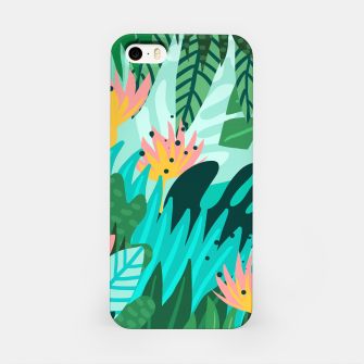 Thumbnail image of Let's Dance In The Sun, Wearing Wildflowers In Our Hair, Tropical Jungle Nature Botanical Painting iPhone Case, Live Heroes