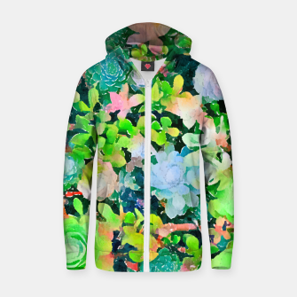 Thumbnail image of The Desert Works Constantly To Forbid It, But The Cactus Blooms Anyway Zip up hoodie, Live Heroes
