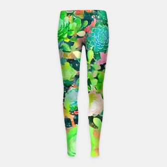 Miniature de image de The Desert Works Constantly To Forbid It, But The Cactus Blooms Anyway Girl's leggings, Live Heroes